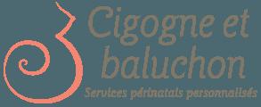 Cigogne et baluchon Logo